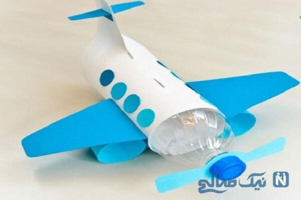 آموزش ساخت هواپیما بسیار ساده و زیبا با بطری نوشابه +تصاویر