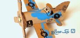 کاردستی هواپیما بسیار آسان با مواد دور ریختنی + تصاویر