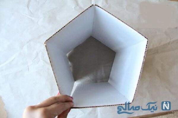 ساخت لوستر با کاغذ