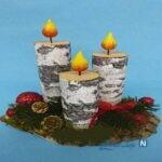 آموزش ساخت شمع تزیینی بسیار زیبا با وسایل دور ریختنی +تصاویر