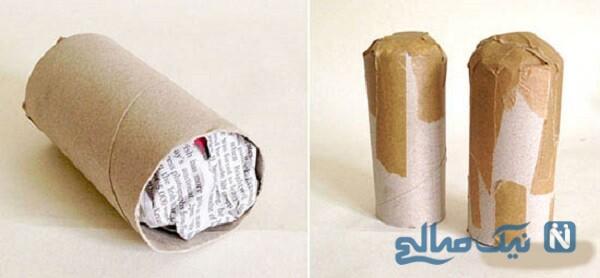 ساخت مینیون با رول دستمال کاغذی