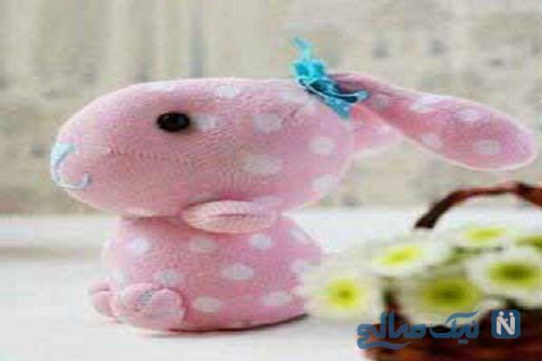 آموزش ساخت خرگوش زیبا و آسان با جوراب + تصاویر