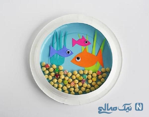 کاردستی آکواریوم ماهی