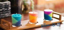 ساخت شمع رنگی بسیار زیبا و ساده + تصاویر