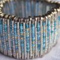 ساخت دستبند زیبا با وسایل اضافه +تصاویر