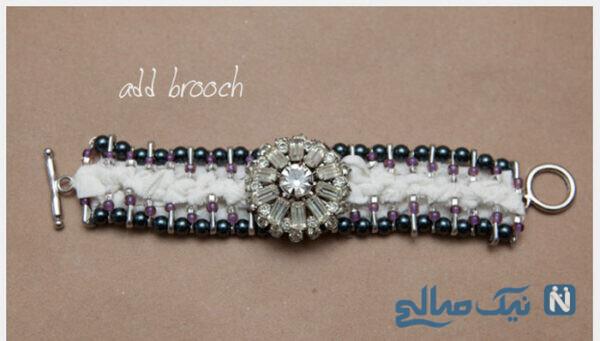 ساخت دستبند با سنجاق قفلی