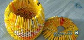 آموزش ساخت جامدادی بسیار جالب با کاغذ باطله+تصاویر