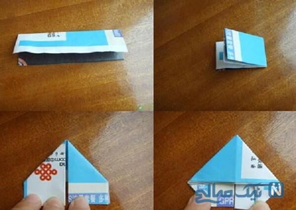 جامدادی با کاغذ باطله