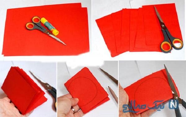 ساخت میوه های کاغذی