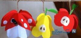 آموزش ساخت میوه های کاغذی بسیار زیبا و ساده+تصاویر