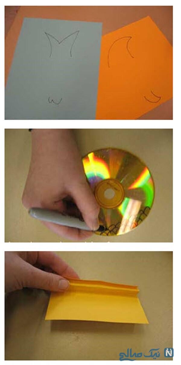 کاردستی ماهی با سی دی