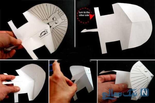 ساخت کاردستی شیر کاغذی