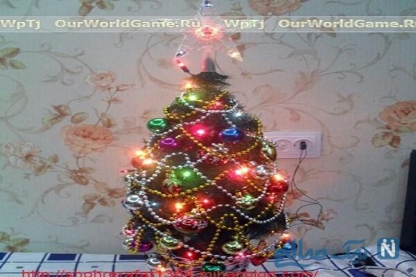 ساخت درخت کریسمس بسیار زیبا برای افراد خوش ذوق +تصاویر