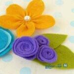آموزش ساخت گل های نمدی بسیار زیبا با روشی ساده +تصاویر