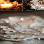 آموزش ساخت جاشمعی های گچی با گل مصنوعی + تصاویر