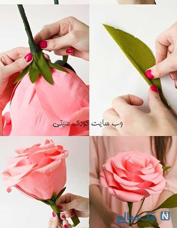 کاردستی گل رز