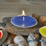 آموزش ساخت شمع بسیار زیبا با صدف + تصاویر