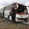 برخورد اتوبوس مسافربری نیشابور با دکل برق فشار قوی