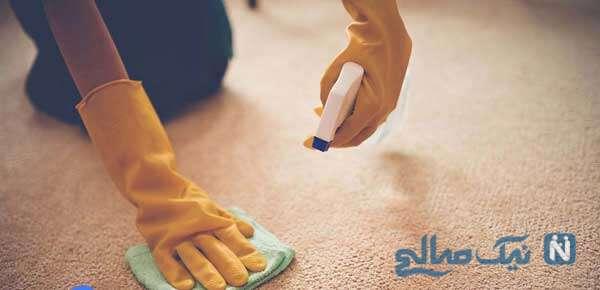 روش پاک کردن لکه های فرش