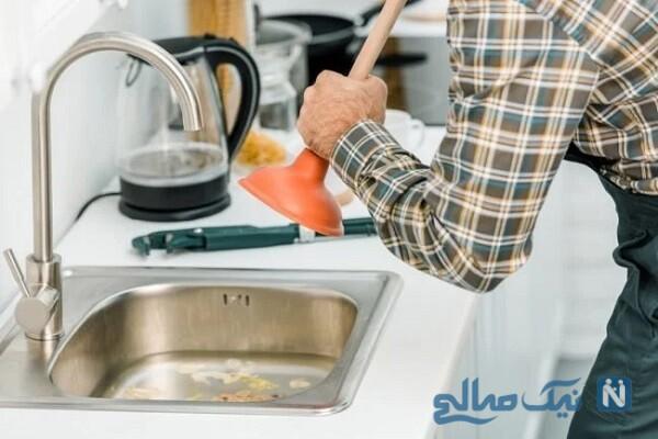 چه طور لوله های ظرفشویی را باز کنیم
