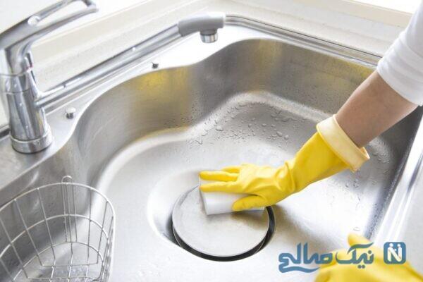 براق کردن سینک ظرفشویی
