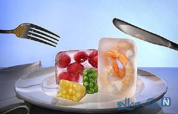 مواد غذایی یخ زده رو سریع آب کنید!