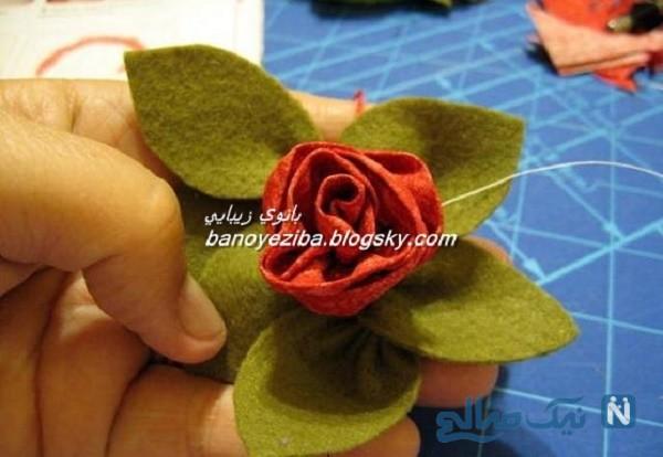 ساخت گل رز با ساتن