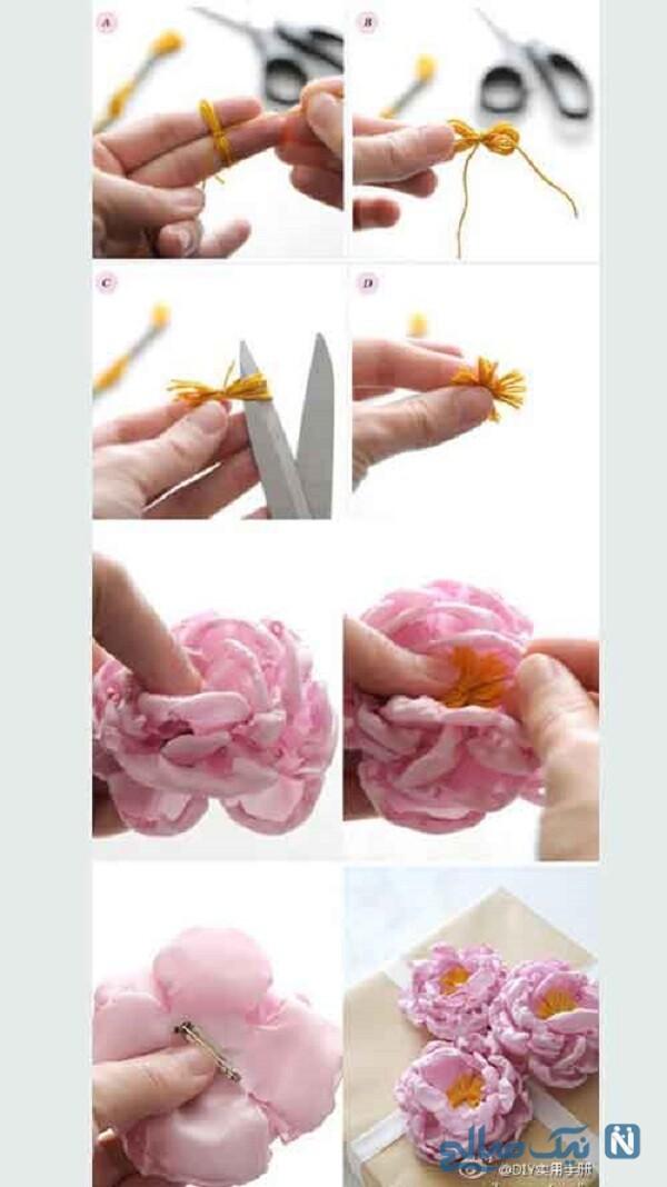گل محمدی پارچه ای