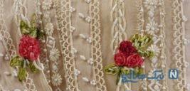 پرده های خود را با گل های روبانی بیارایید!+ عکس