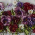 آموزش تصویری دوختن گل بنفشه!