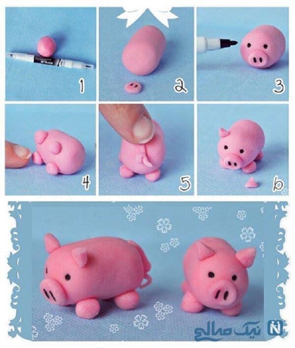 ساخت عروسک خمیری
