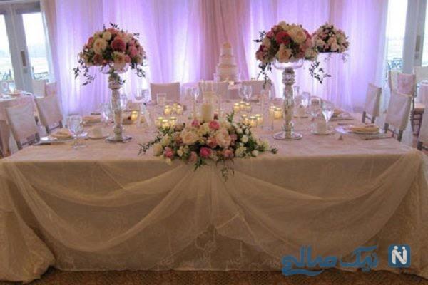 تزیین میز شام عروس و داماد