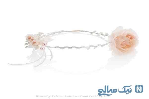 تل و گل سرعروس خلاقانه و زیبا +تصاویر