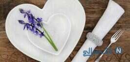 نمونه هایی از تزیینات قاشق و چنگال روی میز