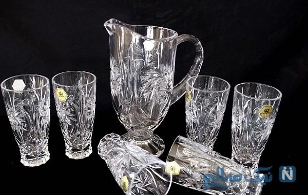 روش شفاف کردن ظروف کریستال و بلوری