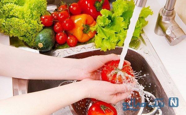 مراحل شستشوی سبزیجات