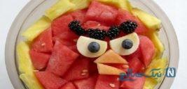 تزیین هندوانه به شکل پرندگان خشمگین ویژه شب یلدا