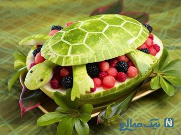 شیک ترین و جدیدترین تزئینات هندوانه شب یلدا + عکس