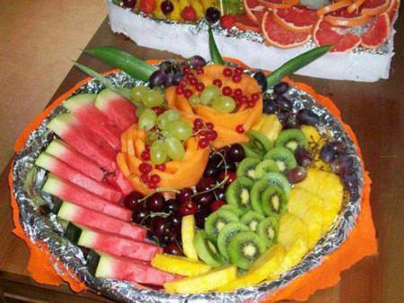 تزئین سبد میوه شب یلدا