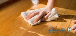 نکاتی برای پاک کردن لکه از روی چوب, چرم, کاشی و کاغذ دیواری!