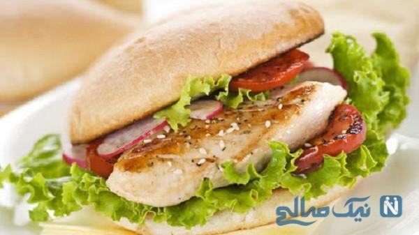 فوت و فن ساندویچ مرغ