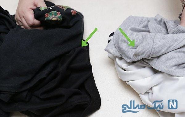 رنگ پس دادن لباس مشکی