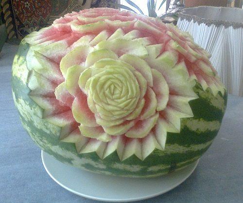 حکاکی روی هندوانه برای شب یلدا+تصایر