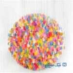 چگونه با بادکنک توپ های رنگی و لوستر درست کنیم؟