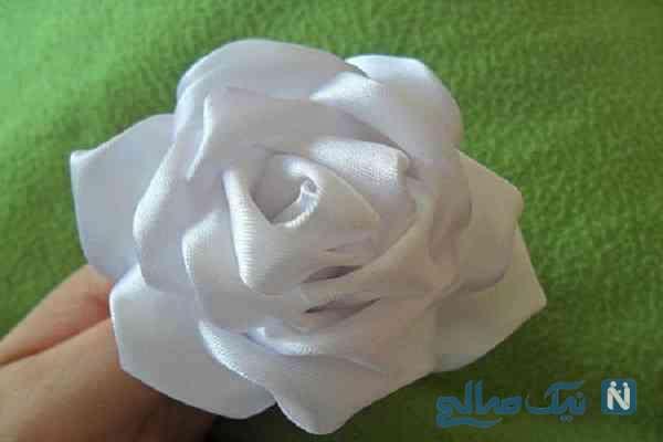 آموزش گل روبانی (گل رز)+ تصاویر