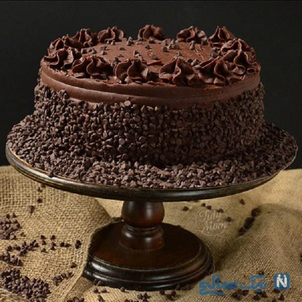 تزیین کیک شکلاتی خانگی