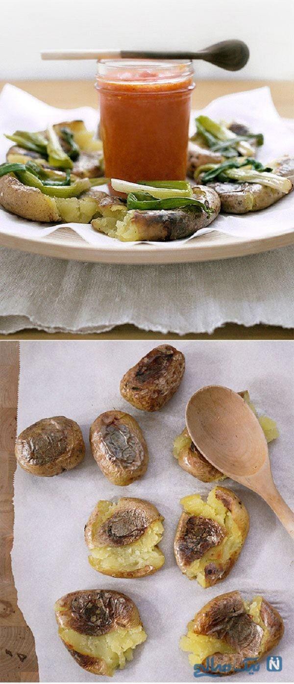مدل های مختلف تزیین سیب زمینی برای مهمانی ها+تصاویر
