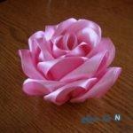 آموزش گل رز روبانی برای سفره هفت سین + تصاویر