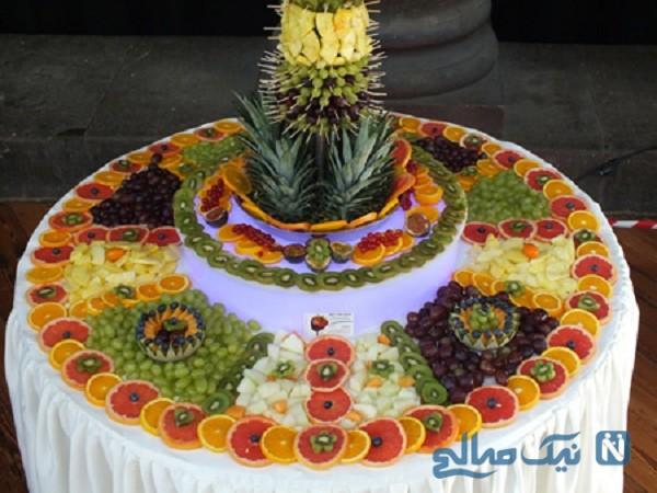 تزیین میوه روی میز