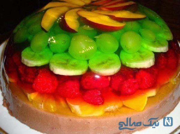 تزیین ژله با میوه ها